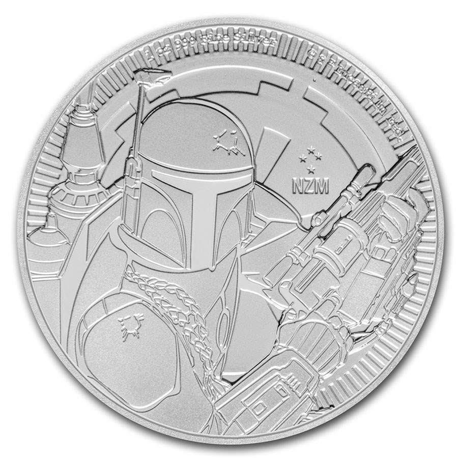 スター・ウォーズ  ボバ・フェット銀貨 1オンス 2020年製 クリアケース入り  ニュージーランド造幣局発行