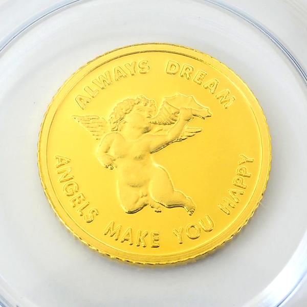エンジェル金貨 1/25オンス スイス・パンプ社発行 保証書付き