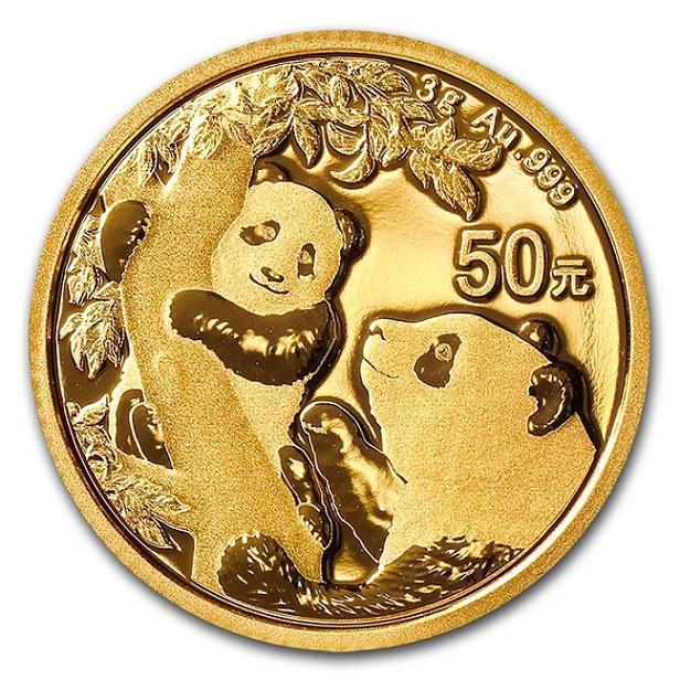 パンダ金貨 3g 2021年製 密封シート入り 中国人民銀行発行 保証書付き