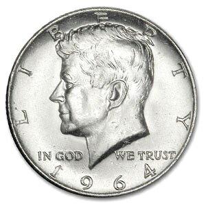 【中古】 ケネディ ハーフ・ダラーのデザイン銀貨 クリアケース入り