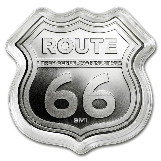 ルート66シルバーバー 1オンス (イリノイ州)
