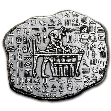 エジプト神アヌビス シルバーバー 1オンス