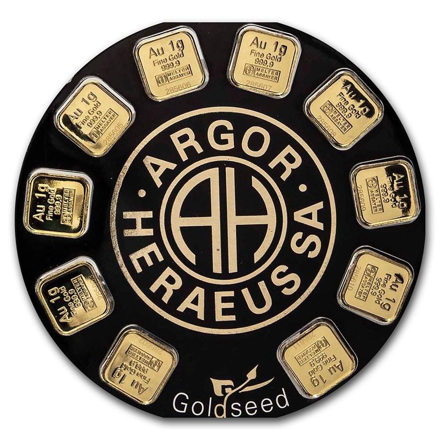 スイス アルゴー・へレウス ゴールドバー 10g(1g×10)