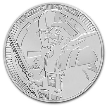 スター・ウォーズ  ダース・ベイダー銀貨 1オンス 2019年製 クリアケース入り  ニュージーランド造幣局発行