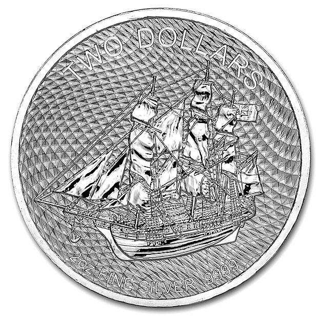 クックアイランド銀貨 (帆船) 2オンス 2020年製