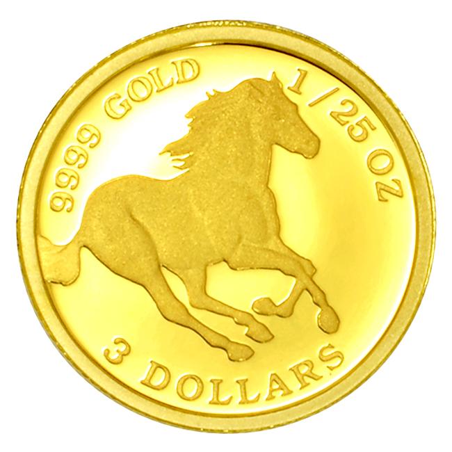 ツバルホース金貨 1/25オンス 2020年 ツバル政府発行 1.24gの純金 24金 ゴールド コイン 純金コイン 馬 Gold Coin  保証書付き