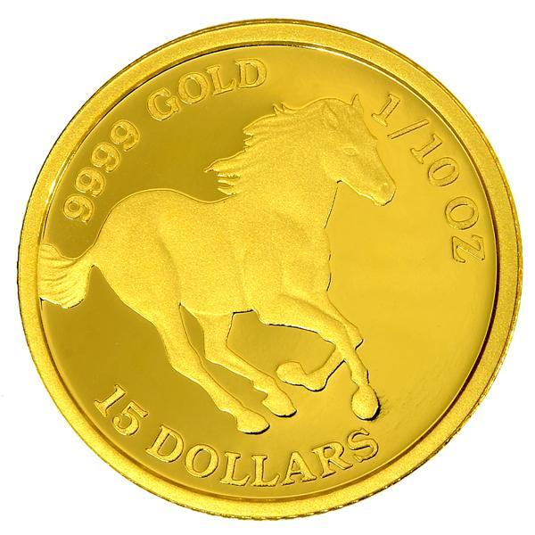 ツバルホース金貨 1/10オンス 2020年 ツバル政府発行 3.11gの純金 24金 ゴールド コイン 純金コイン 馬 Gold Coin  保証書付き