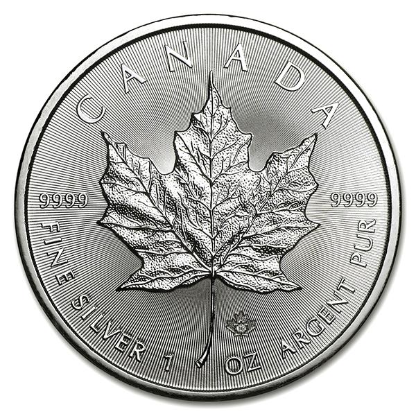 メイプル銀貨 1オンス クリアケース付き ランダム・イヤー カナダ王室造幣局発行 純銀の公式な銀貨  保証書付き