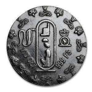 エジプト王妃ネフェルティティ銀貨 1/10オンス クリアケース入り モナーク プレシャス メタル発行3.11gの純銀 保証書付き