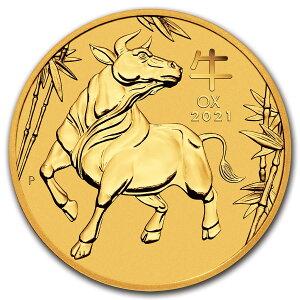 《金・銀セット》 干支丑金貨 1/20オンス + 干支丑銀貨 1/2オンス 2021年