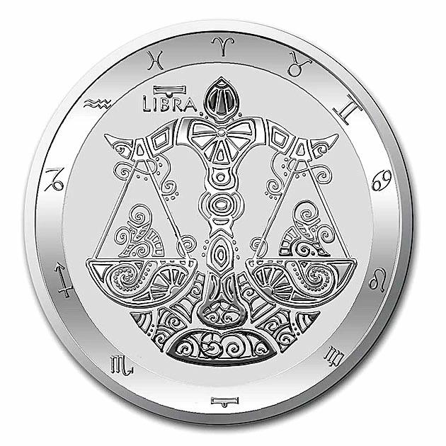 【12星座】てんびん座銀貨 1オンス 2021年製