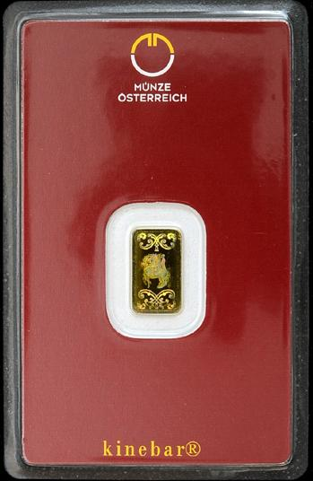 オーストリア ミント キネバー ゴールドバー 1g オーストリア造幣局発行