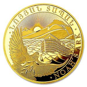 《金・銀セット》 ノアの箱舟金貨 1g + ノアの箱舟銀貨 1オンス ランダムイヤー