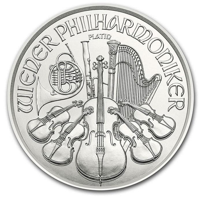 ウィーンプラチナコイン 1/25オンス 2020年 クリアケース入り オーストリア造幣局発行