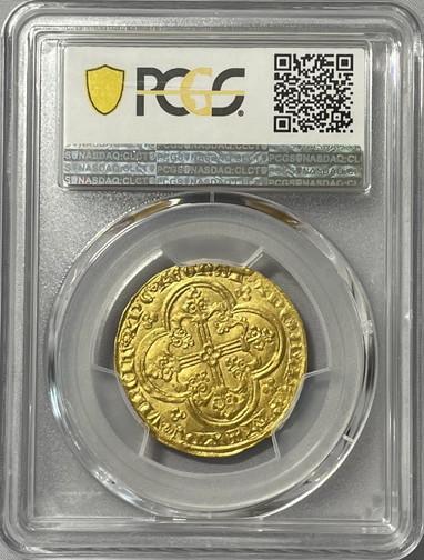 アンティークコイン フランス-フランシュヴァル金貨 (1350-64) ジャンII世-PCGS-MS-62