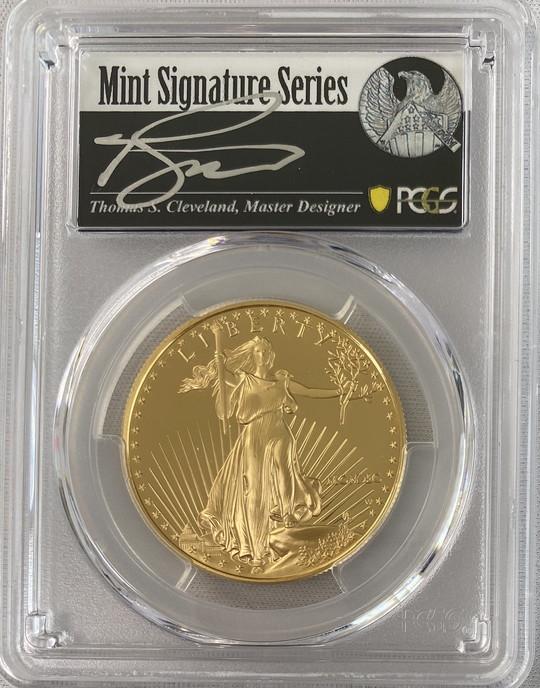 アメリカ50ドル金貨 ゴールドイーグル 1990-W年 $50PCGS PR70DCAMクリーブランドサイン入り