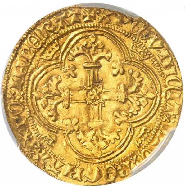 アンティークコイン フランス シャルル7世 (1422-1461年) ロイヤルドール MS62 PCGS
