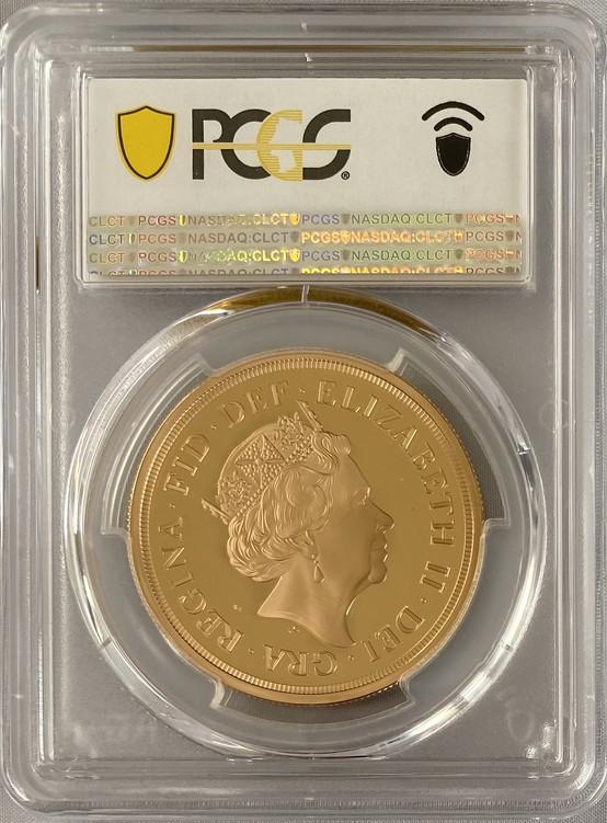 グレートブリテン2019年エリザベスII世5ポンドプルーフ金貨PCGS-PR70DCAM40167051