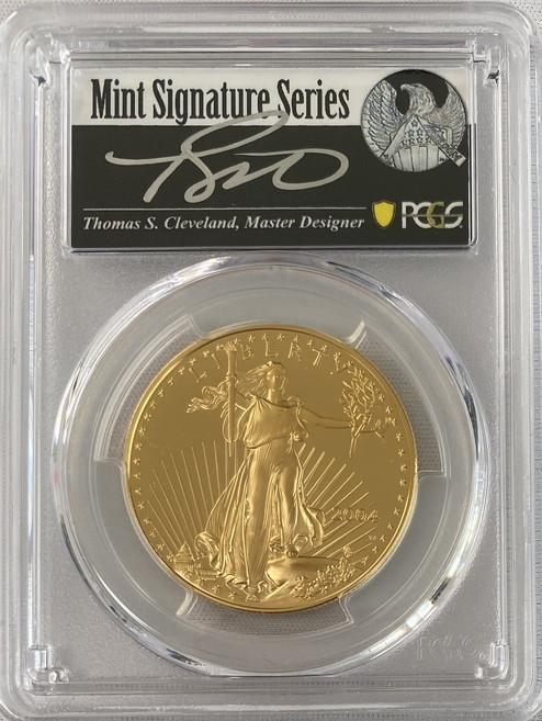 【動画あり】アメリカ50ドル金貨 ゴールドイーグル 2004-W年 $50PCGS PR70DCAMクリーブランドサイン入り