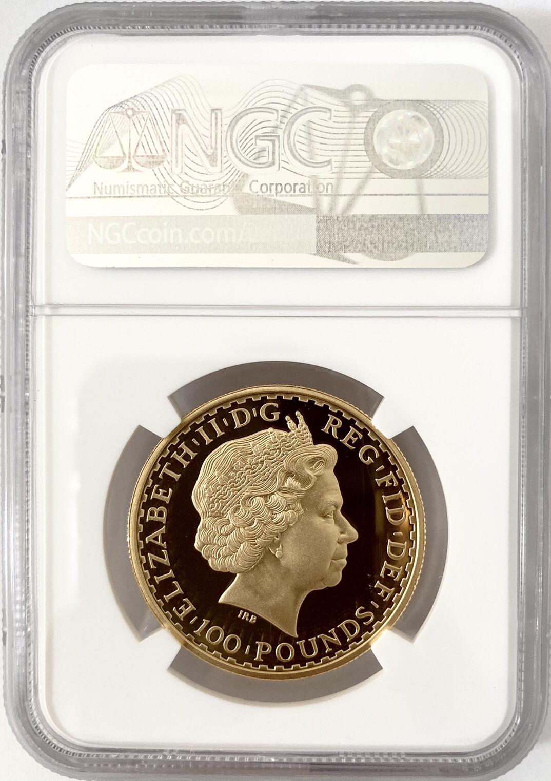 【セール品】グレートブリテン2008年スタンディングブリタニア100ポンド金貨NGC-PF70UCAM6027893-080