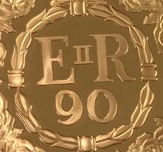 【動画あり】グレートブリテン2016年エリザベスII世生誕90周年5ポンドプルーフ金貨NGC-PF70UCAM-5880611-005