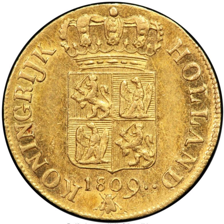 アンティークコイン オランダ王国1809年ルイ・ナポレオンダカット金貨PCGS-MS62