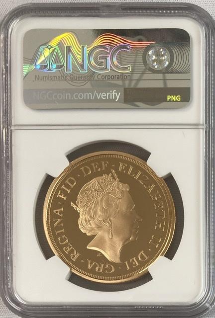 【動画あり】グレートブリテン2015年エリザベスII世5ポンドプルーフ金貨NGC-PF70UCAM