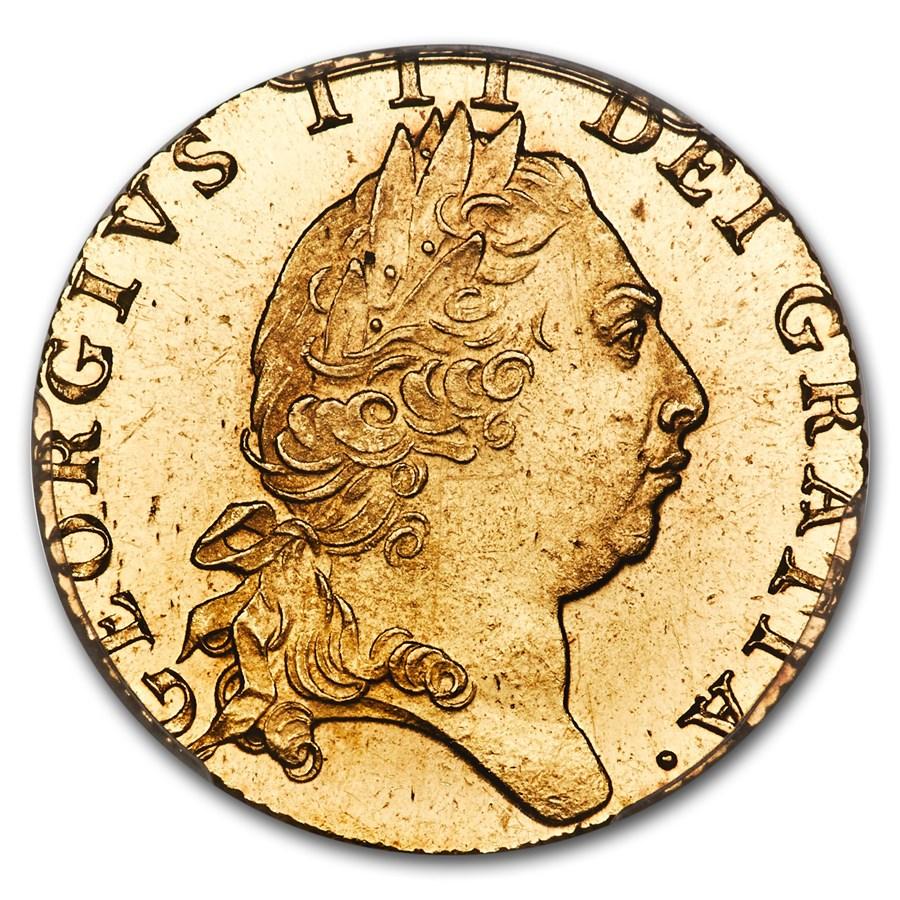【動画あり】グレートブリテン ジョージ3世1798年ギニー金貨PCGS-MS64