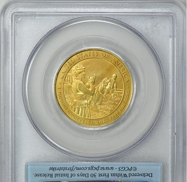 2枚組2011-W 10ドル金貨 ルーシー・ヘイズ $10 PCGS MS-70 PR70DCAMファーストストライク完全未使用