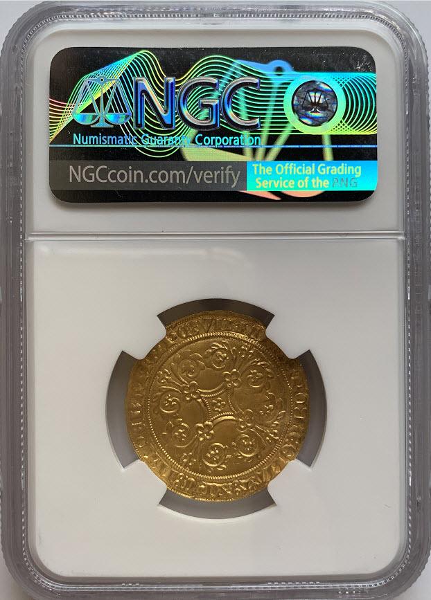 ベルギー 1355-1383年 ブラバンド ジョアンナ&ヴェーツラフ ゴールドピエタードール NGC-MS63