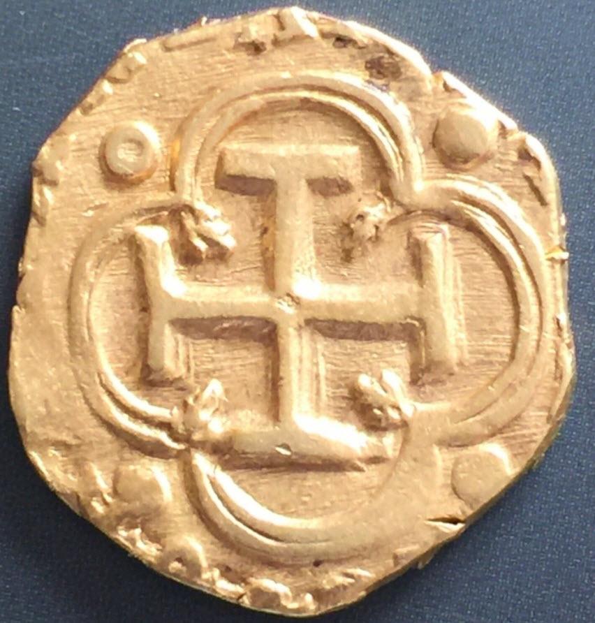 アンティークコイン(1598-1621)スペイン-フェリペ3世バリャドリード2エスクードNGC-AU58
