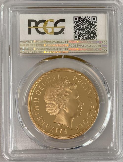 【超人気】グレートブリテン2012年エリザベスII世ドラゴンスレイヤー5ポンドプルーフ金貨PCGS-PR70DCAM