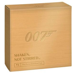 グレートブリテン2020年エリザベスII世1オンス100ポンドプルーフShaken Not Stirred純金金貨ジェームズボンド3rd-007箱付き