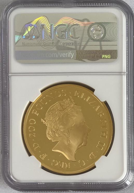 【動画あり】グレートブリテン 2020年 エリザベス2世 200ポンドプルーフーブリタニア金貨 NGC-PF70UCAM6028024-001