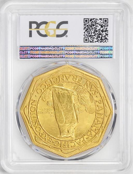 アメリカアンティークコイン50ドル パナマパシフィック金貨1915-S Octa $50 PCGS MS64