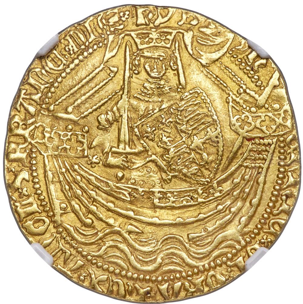 グレートブリテン・ヘンリー5世 ゴールド ノーブル ND (1413-1422) AU58 NGC