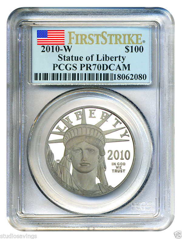 プラチナイーグル 100ドル 1オンス2010-W $100 PCGS PR70DCAM (ファーストストライク)