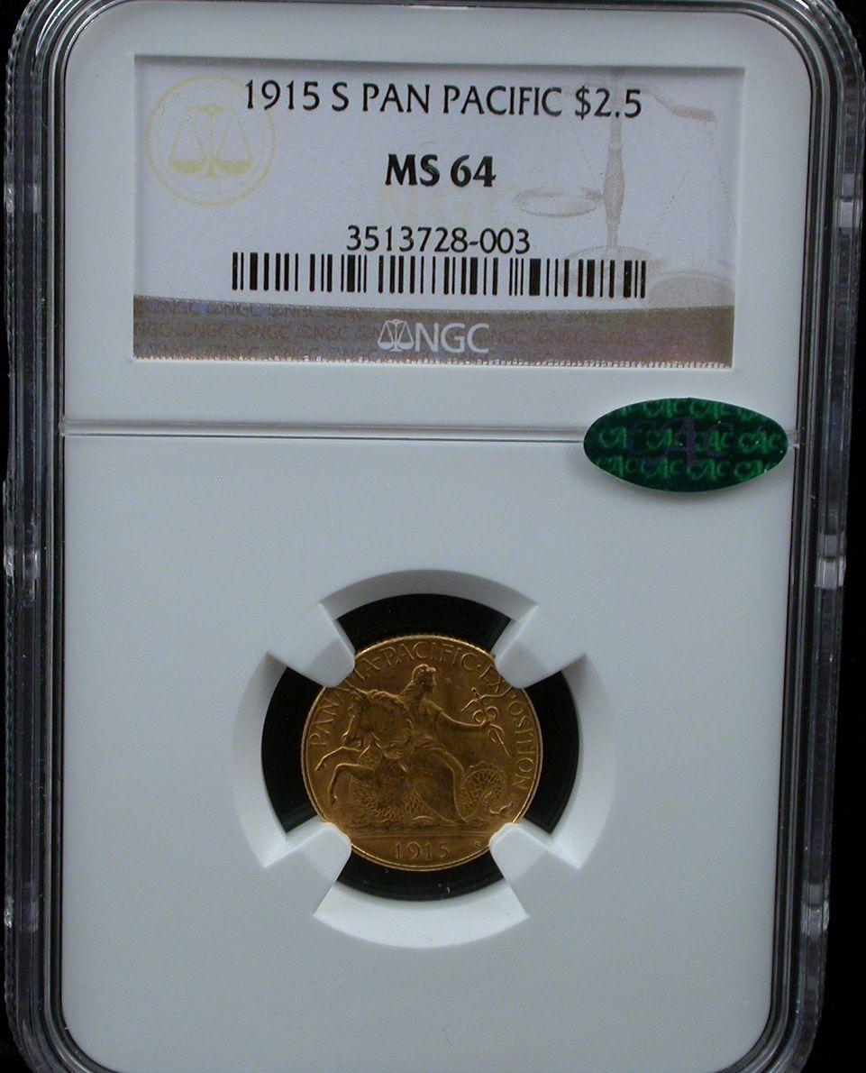 1915-S $2 1/2 PAN-PAC パナマ・パシフィック2.5ドル金貨NGC MS64