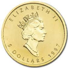1997メイプルリーフ金貨 1オンス