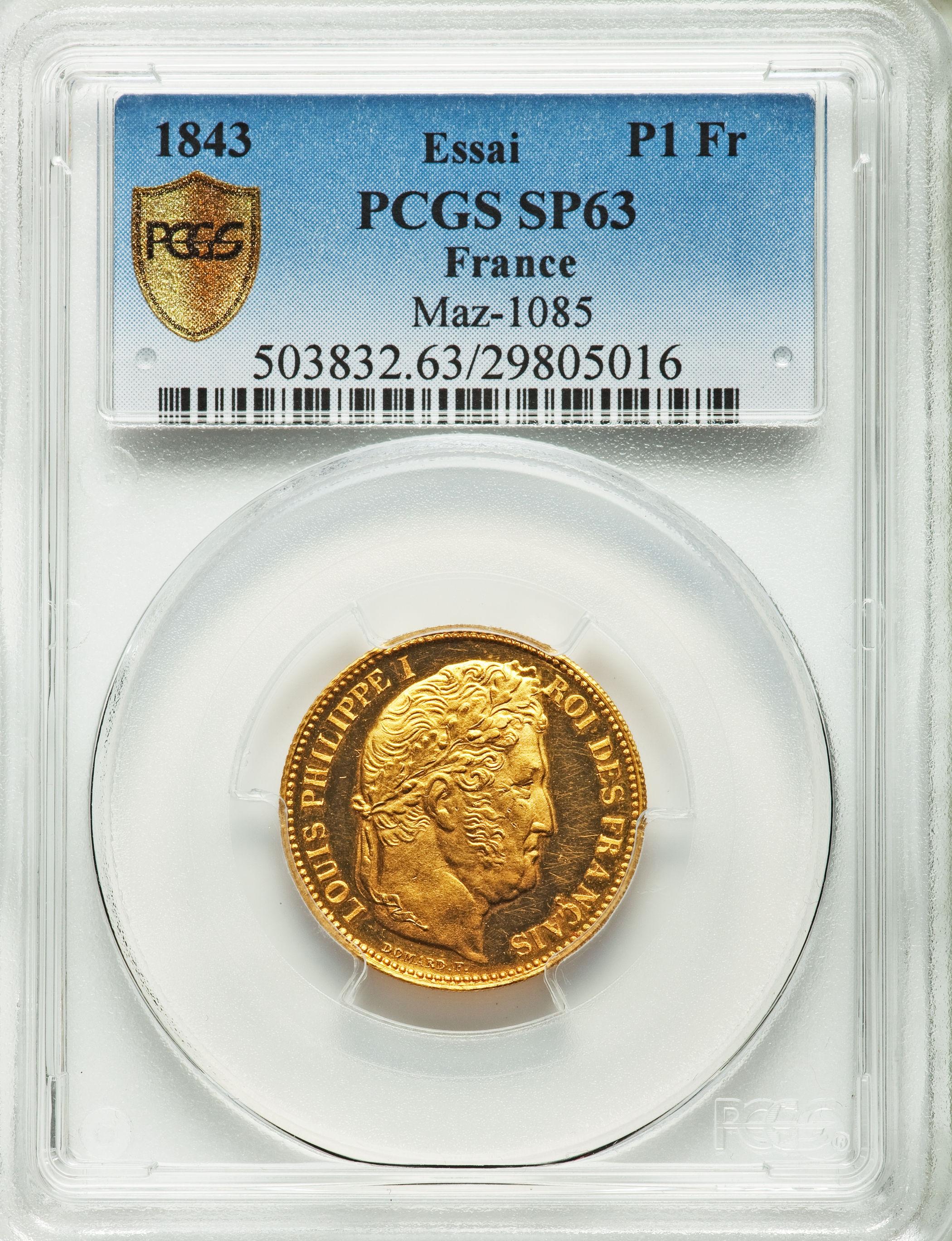 動画あり】フランス 1843年ルイ フィリップ1世 ゴールド試鋳貨1 ...