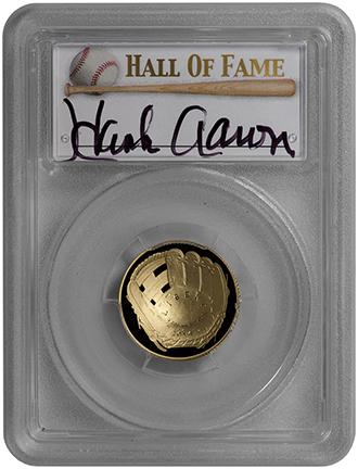 【世界で一枚】2014メジャーリーグベースボール記念コイン1956年ナショナルリーグ バッティングチャンピオン 5ドル金貨ハンクアーロン PCGS-PR70DCAM