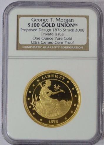 【動画あり】2008 George T. Morgan $100 Gold モルガン1オンス金貨