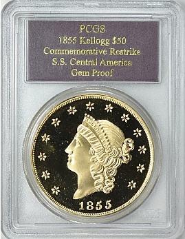 【動画あり】1855 Kellogg $50セントラルアメリカ PCGS Gem Proof2447