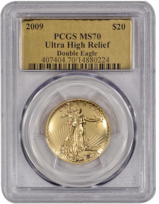 【動画あり】2009ウルトラハイリリーフ金貨 PCGS-MS70 未使用 0003