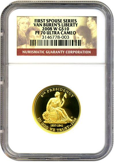 2008-W ヴァンビューレン・リバティ10ドル金貨 $10 NGC Proof 70 UCAM 完全未使用