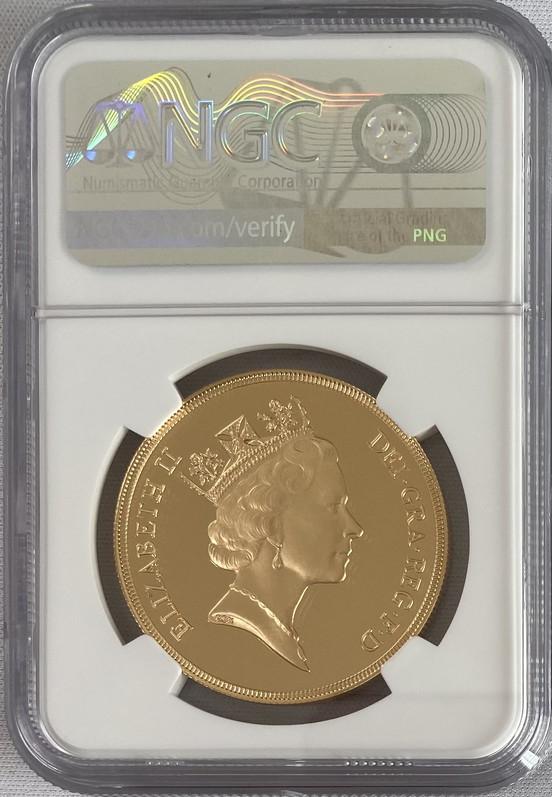 グレートブリテン 1990年エリザベス5ポンドプルーフ金貨NGC-PF70UCAM