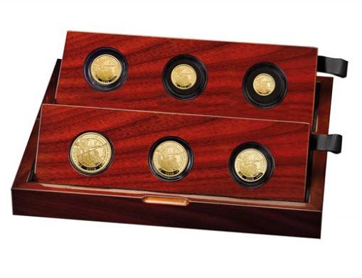 【動画あり】グレートブリテン2019年ブリタニア純金プルーフ金貨6枚セット箱付き