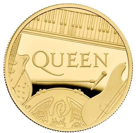 グレートブリテン 2020年 音楽の伝説シリーズ クイーン 1オンス 100ポンドプルーフ金貨 NGC-PF70 UCAM6027452-026