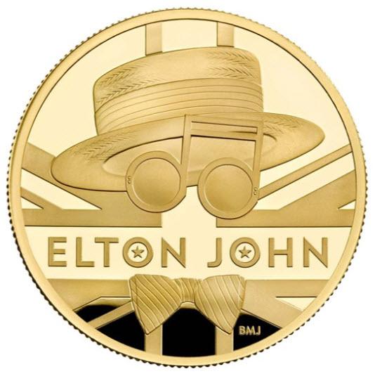 グレートブリテン2020年音楽の伝説シリーズエルトンジョン1オンス100ポンドプルーフ金貨オリジナル箱付き3