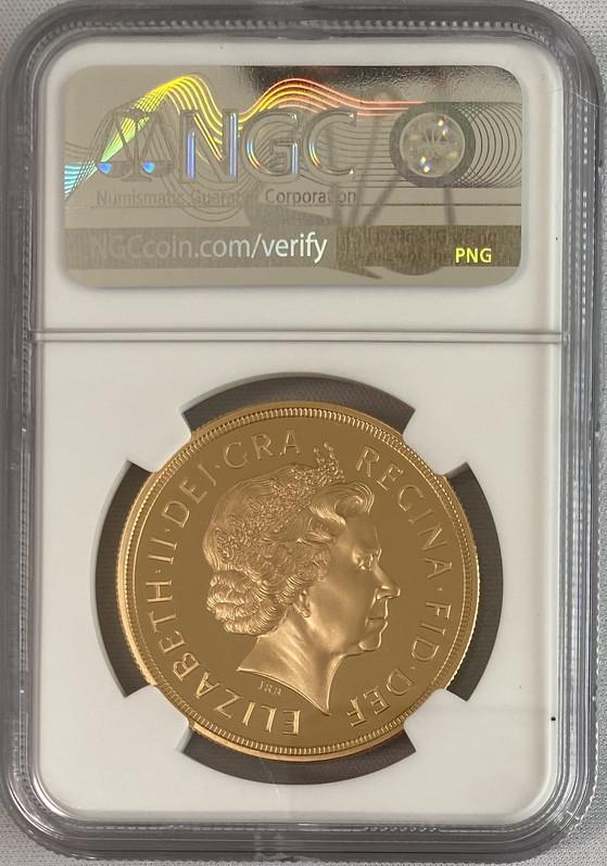 【動画あり】グレートブリテン2002年エリザベスII世5ポンド金貨NGC-PF70UCAM